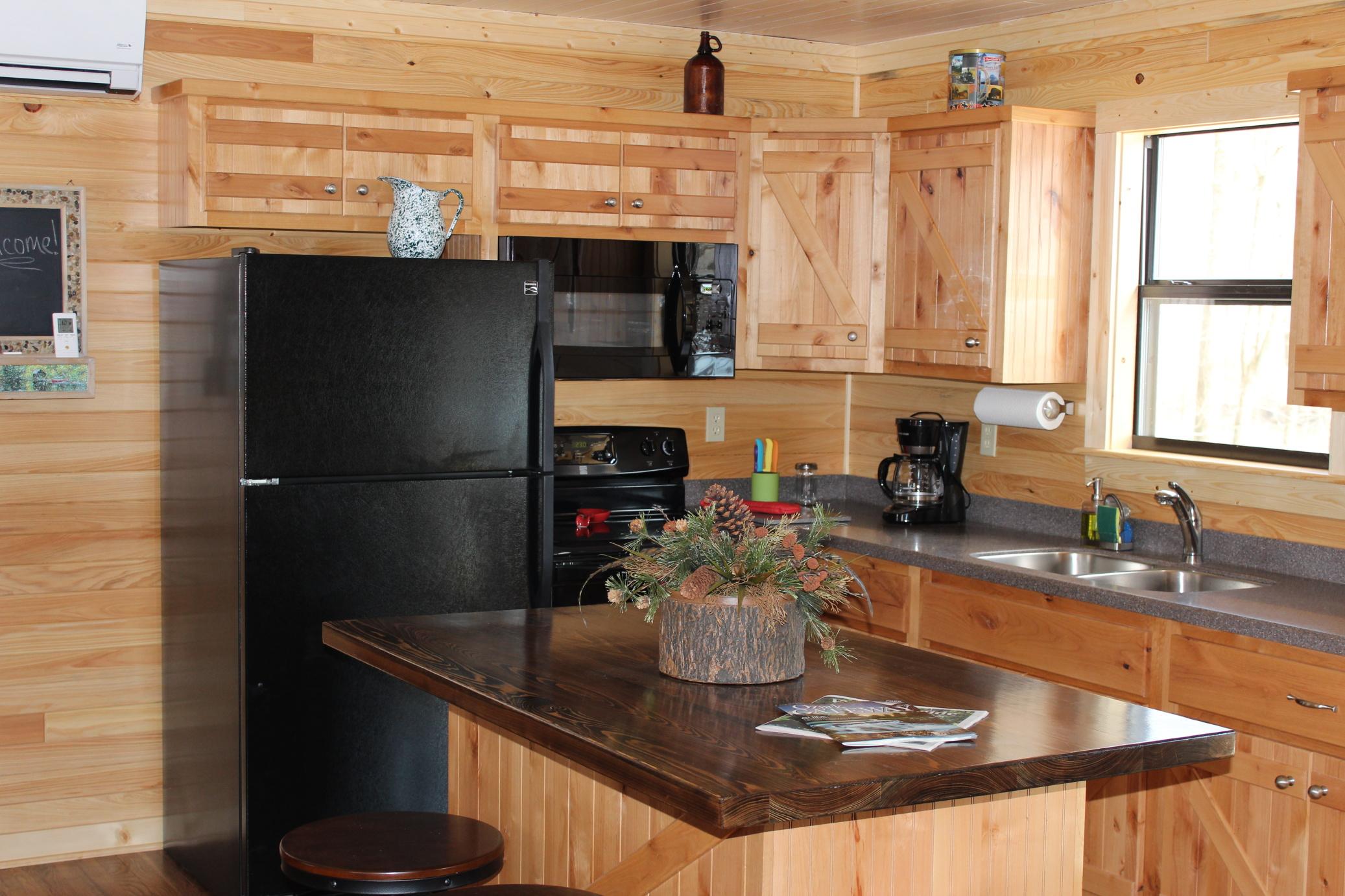 Rivers Edge Cabin Kitchen